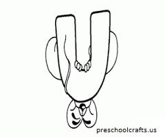 preschool alphabet letter u coloring pages-worksheets homeworks for kids