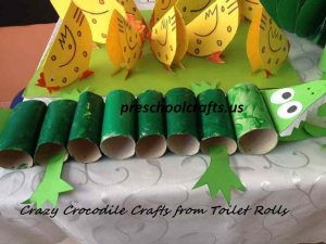 preschool-crocodile-toilet-rolls-craft-for-kids