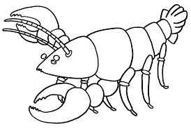 printable lobster coloring for preschool