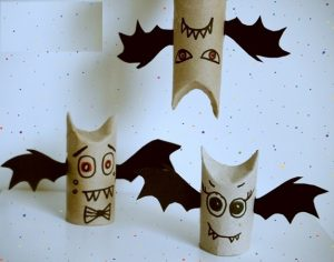 toilet paper roll bat craft idea