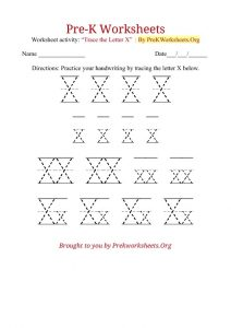 tracing-letter-x-worksheets