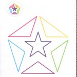 triangle and star coloring page