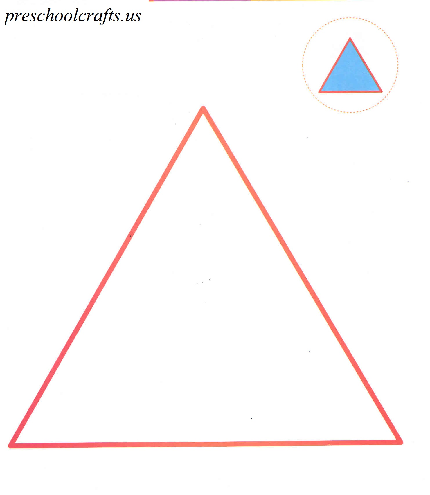 triangle coloring page - Preschool Crafts