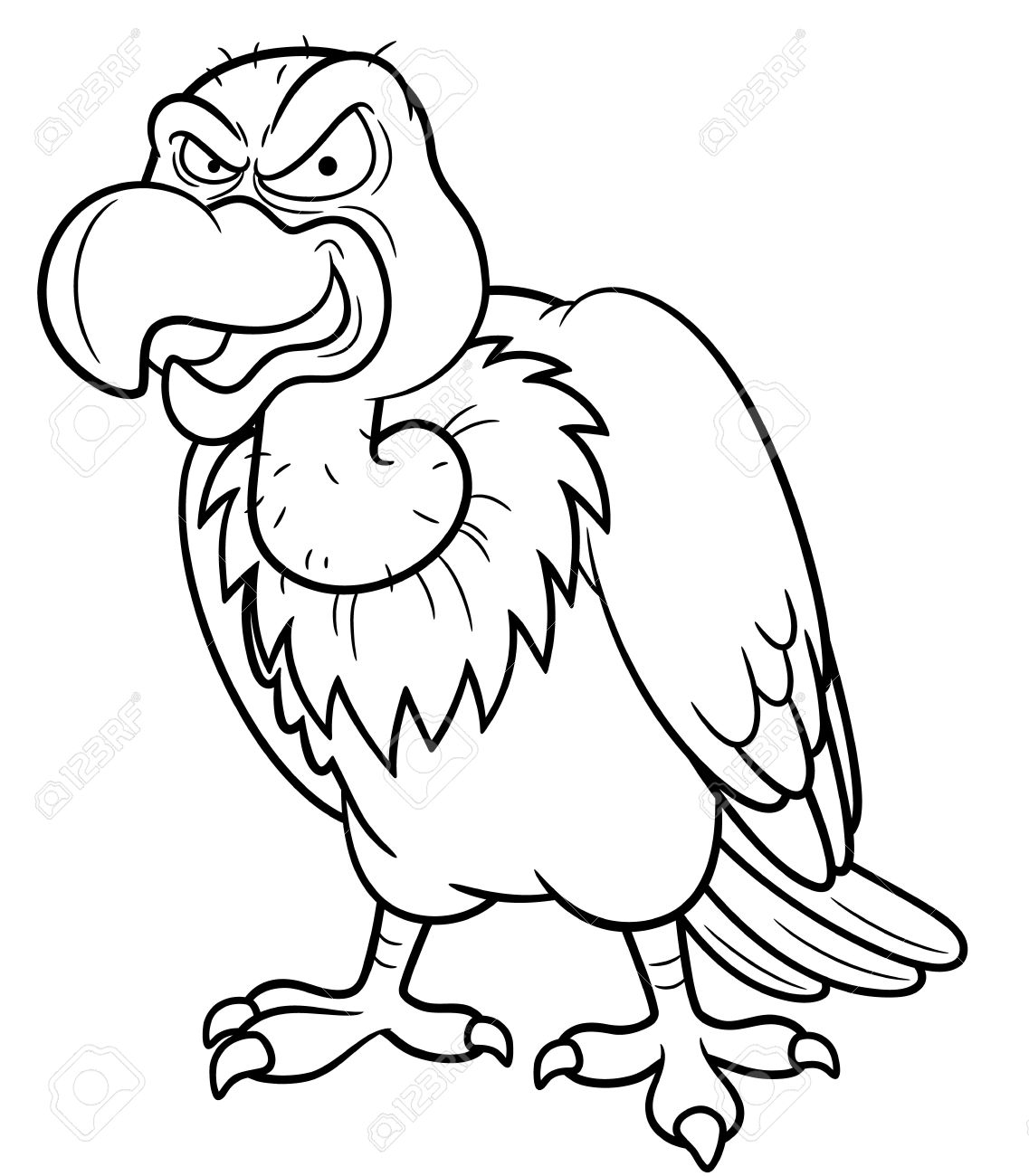 -vulture-Coloring-book-Stock-Vector