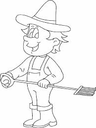 labor day free coloring pages farmer