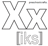 x coloring page x