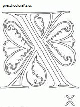 x coloring pages