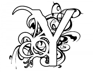 y letter coloring page