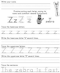 z worksheets ideas for preschool
