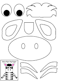 zebra craft template