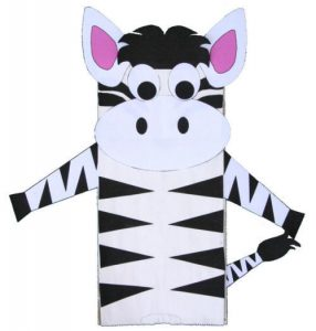 zebra plate craft for kids