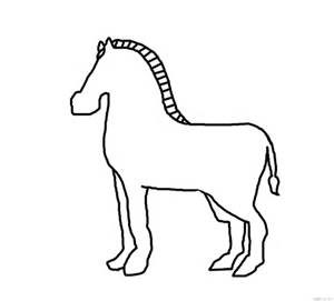 zebra template for animal crafts