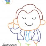 Businesman coloring pages