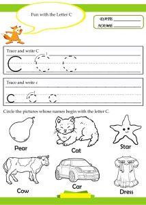 Letter-C-workpage-for-kindergarten