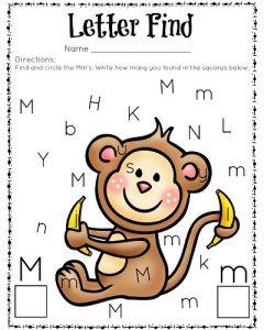 Letter-Find-M-Color-for-preschool