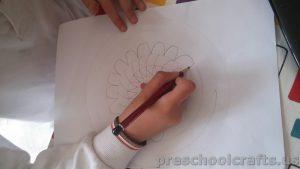 Mandala coloring page idea for kids