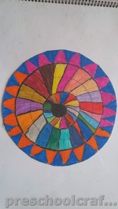 Mandala coloring pages ideas for toddler