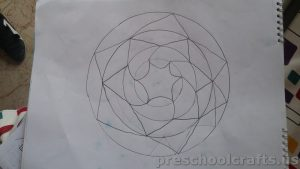 Mandala colouring pages idea for kids