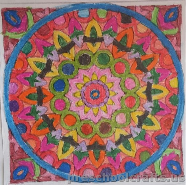 Mandala painting ideas for kids