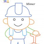 Miner coloring pages