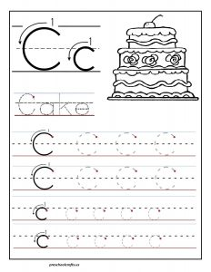 Printable - letter - C - tracing - worksheets - for - preschool