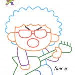 Singer coloring pages