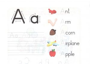 alphabet-capital-and-small-letter-A-a-worksheet-for-kids
