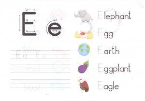 alphabet-capital-and-small-letter-E-e-worksheet-for-kids