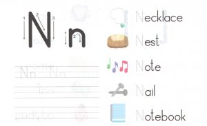 alphabet-capital-and-small-letter-N-n-worksheet-for-kids