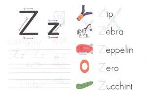 alphabet-capital-and-small-letter-Z-z-worksheet-for-kids