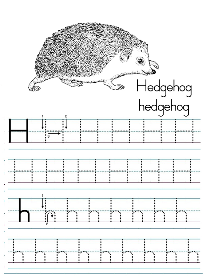 alphabet letter h tracing worksheet Preschool Crafts