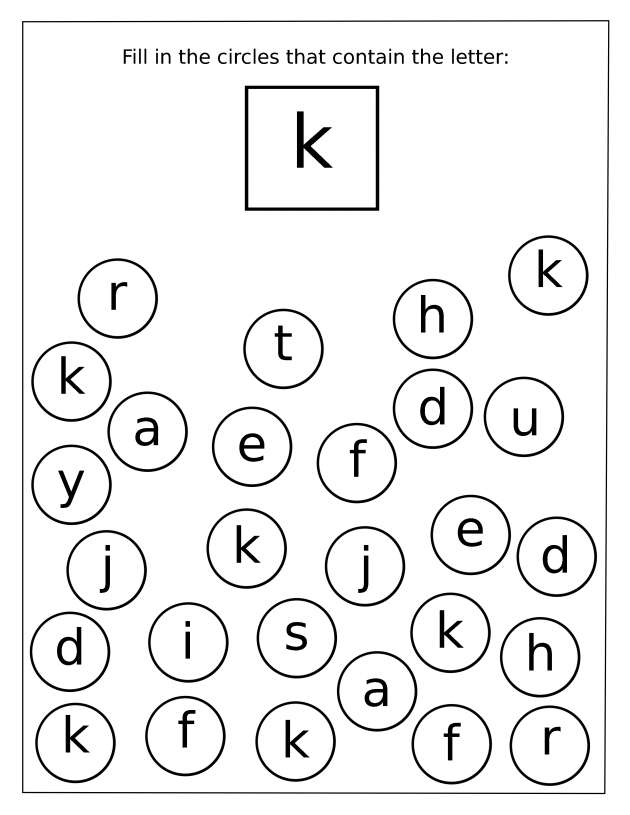 Letter K Worksheets For Preschool Preschool And Kindergarten