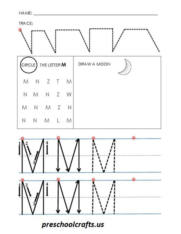 alphabet-letter-m-worksheets - Preschool Crafts