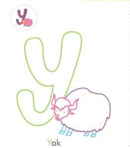alphabet-letter-y-yak-coloring-page-for-preschool
