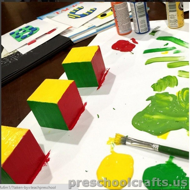 cube painting