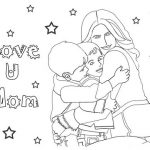 free printable mother's day coloring pages for preschool