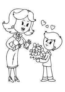 mother's day colouring page for preschool