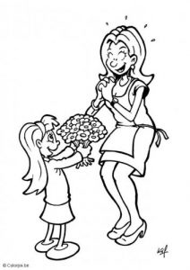 mother's day colouring pages for kids