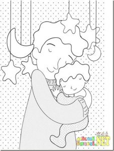 mother's day colouring pages for preschool