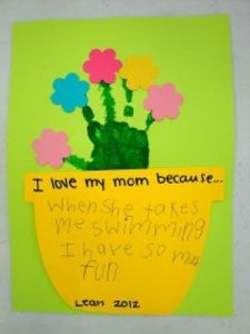mothers day craft with hand patterns