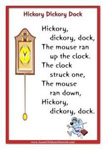nursery rhyme for development care activities