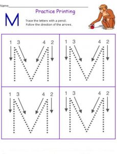 practice-tracing-letter-m-workpage