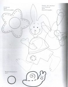 rabbit puppet making activity patterns for kids