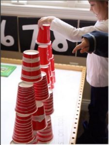 stacking cups on top