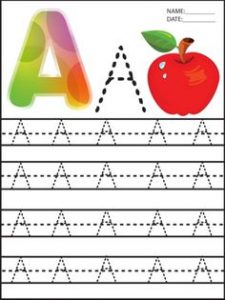 uppercase-A-trace-worksheet