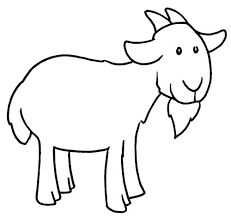 Enjoyable Goat Coloring Pages for kids