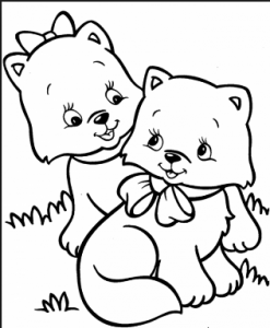 cats coloring pages for kids