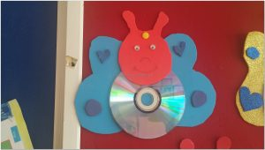 cd crafts butterfly blue