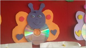 cd crafts butterfly for preschool