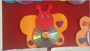 cd crafts butterfly funny